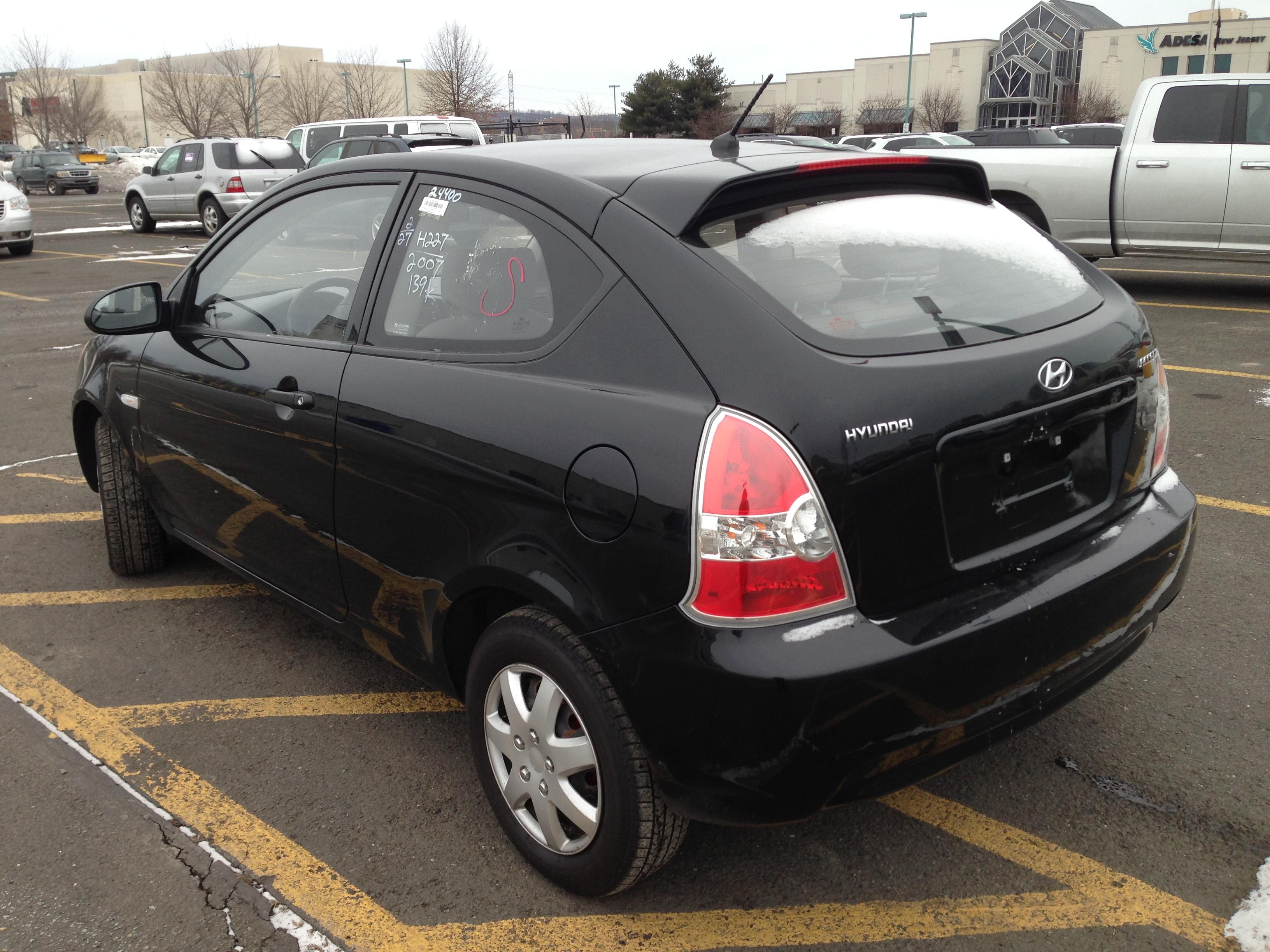 used car for sale 2007 hyundai accent hatchback 4 990. Black Bedroom Furniture Sets. Home Design Ideas