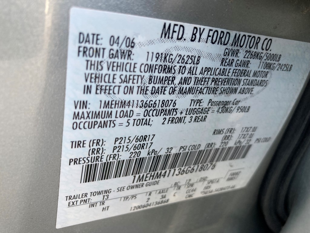 Used - Mercury Montego Luxury AWD Sedan for sale in Staten Island NY